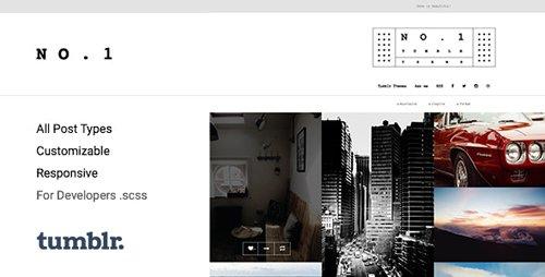 ThemeForest - NO.1 v1.0.7 - Creative Portfolio Tumblr Theme - 15264019