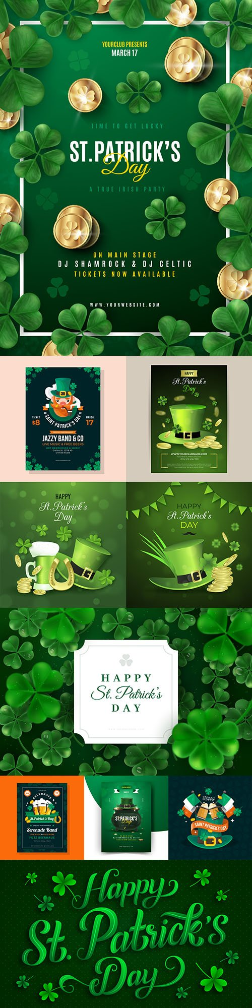 St. Patrick 's Day party design illustrations 2