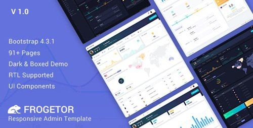ThemeForest - Frogetor v1.0 - Responsive Admin Dashboard Template - 23583559