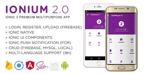 CodeCanyon - Ionium 2 v1.3.1 - Ionic Multipurpose App using Ionic 3 - 20465103