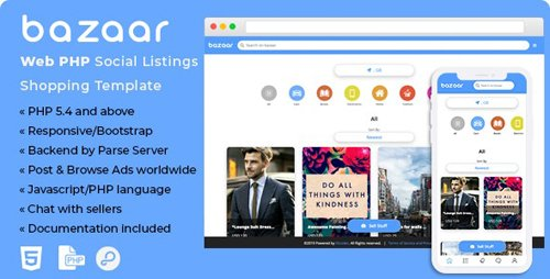 CodeCanyon - Bazaar - Web PHP Social Listings/Classifieds Shopping Template (Update: 26 September 19) - 23207913