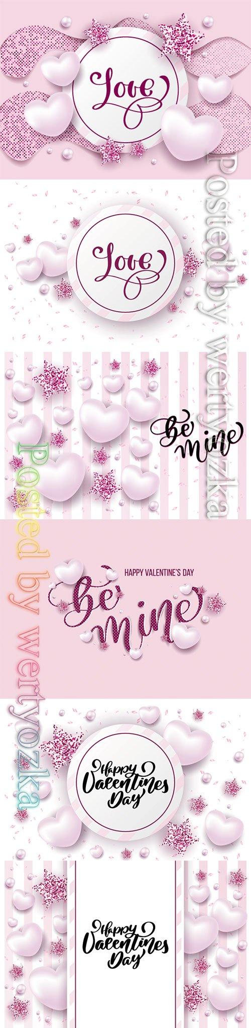 Happy valentine day festive sparkle layout template design