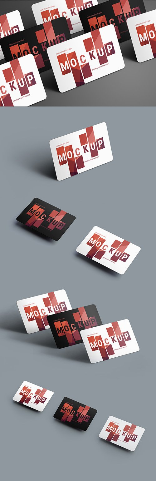 5 Gift/Bank Card Mockup Layouts 199023321 PSDT