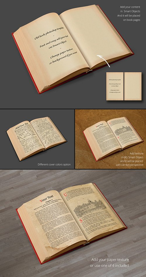 Ancient Book Mockup Layout 211294776 PSDT