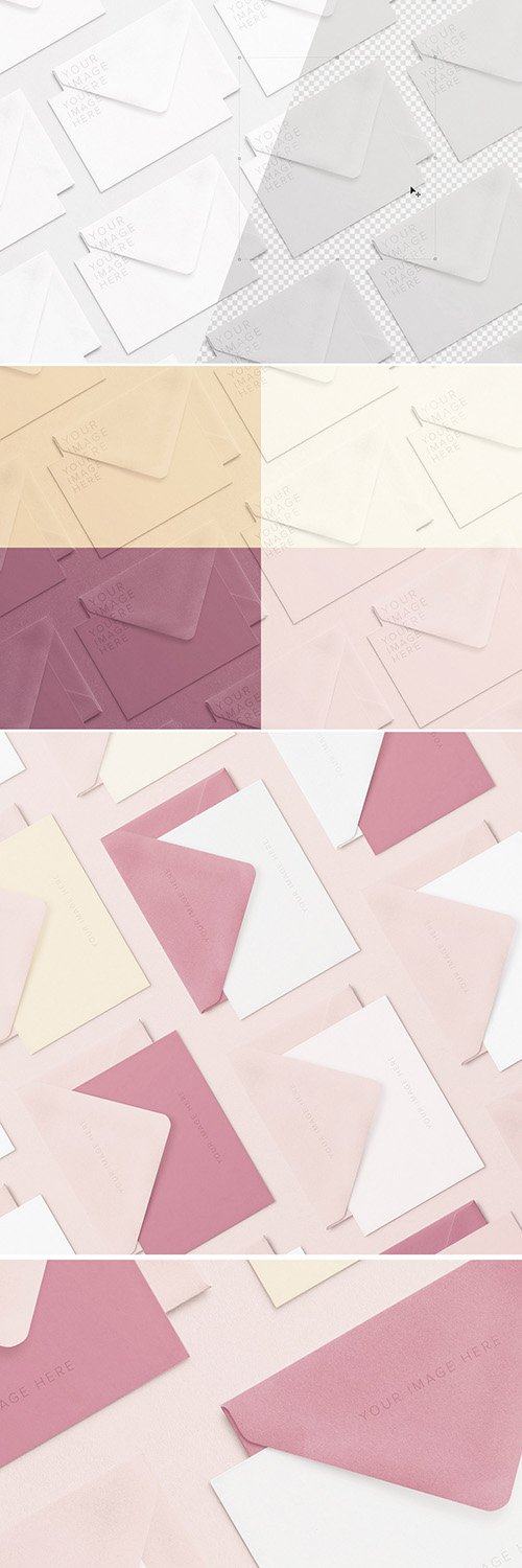 Array of Notecards and Envelopes Mockup 281667697 PSDT