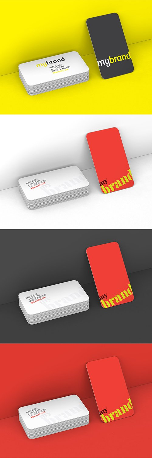 Rounded Edge Business Cards Mockup 281671061 PSDT