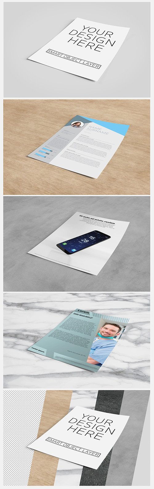 Sheet of Paper Mockup with Editable Layout 216847732 PSDT