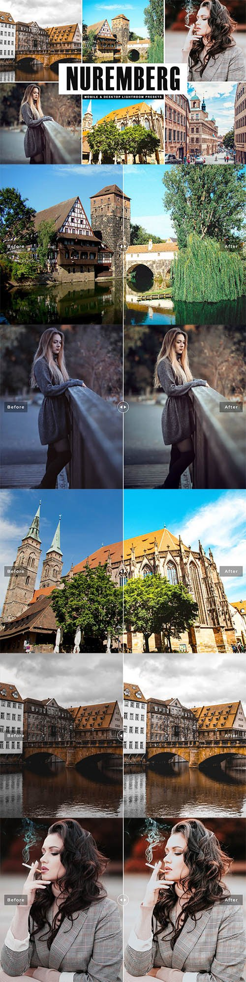 Nuremberg Mobile & Desktop Lightroom Presets