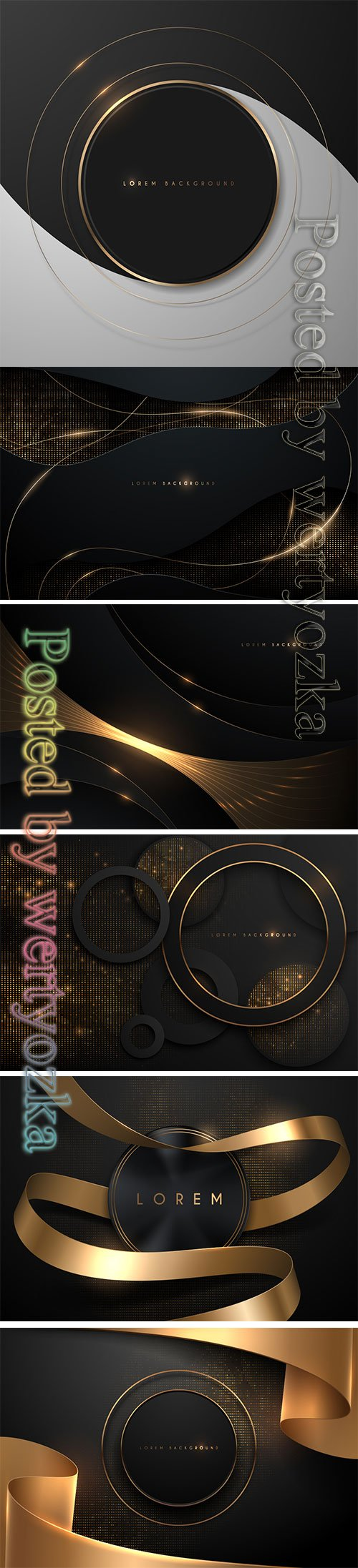 Abstract black and gold vector background