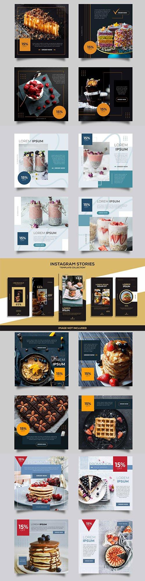 Social media instagram post design templates 3