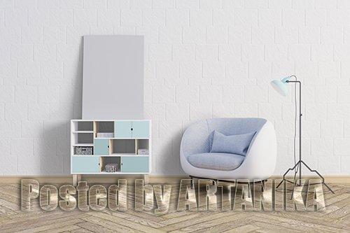 Frame Wall PSD Mockup