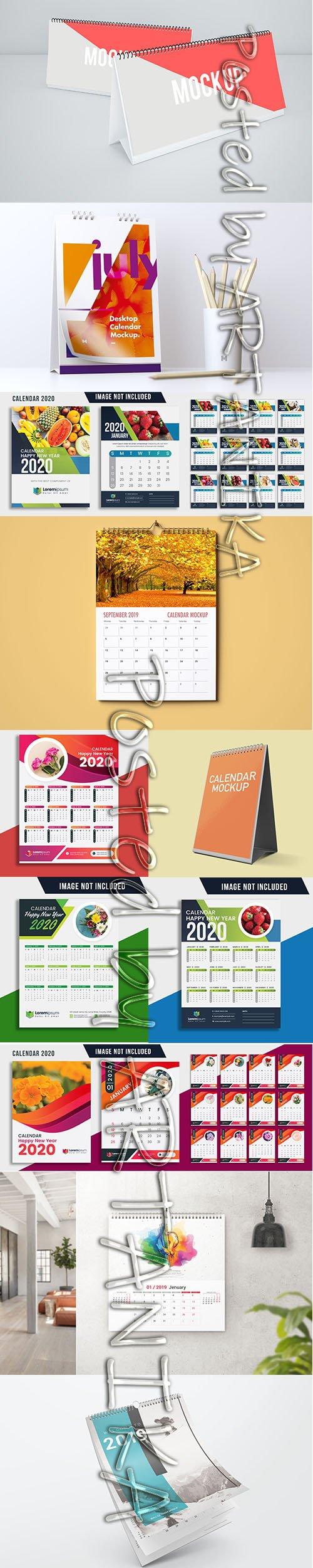 Set of Calendar 2020 PSD and Vector Template