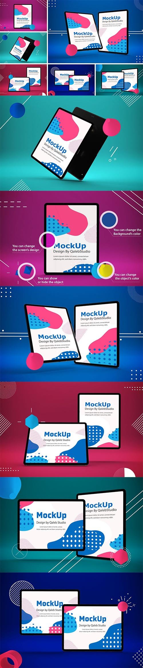 Abstract iPad Pro Mockup