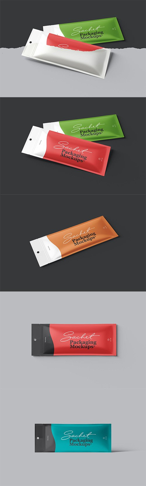 Sachet Packaging Mockups