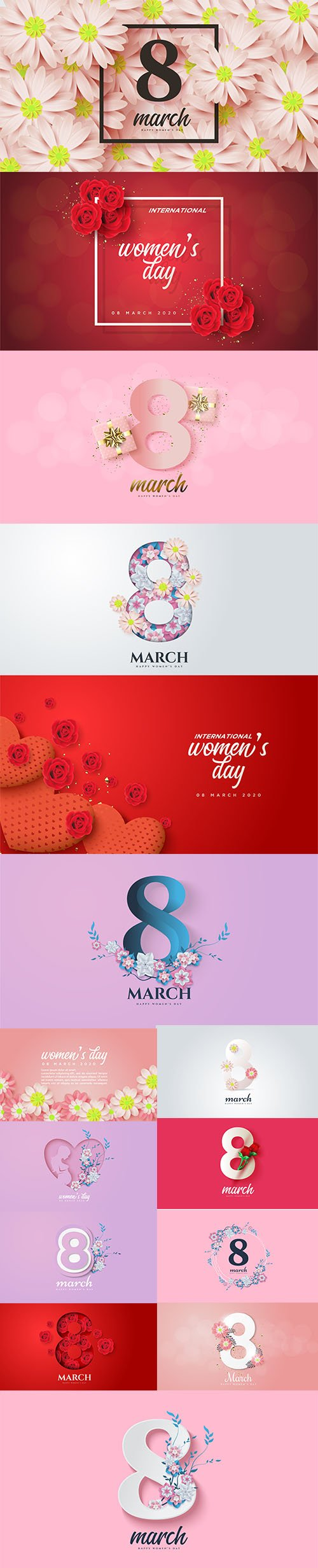 Set of Womens Day Illustrations