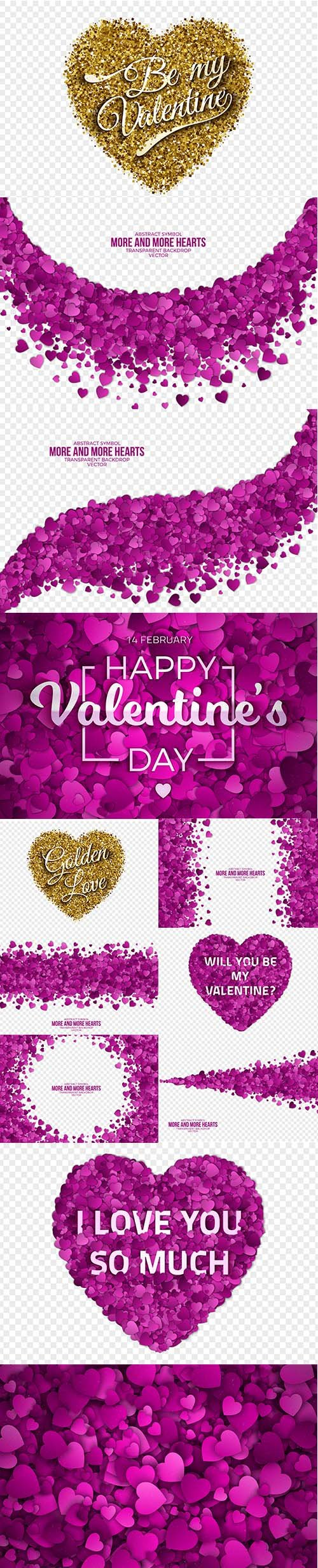 Set of Romantic Valentines Day Illustrations Vol 3