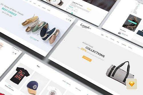 Leonado - Multipurpose eCommerce Sketch Template