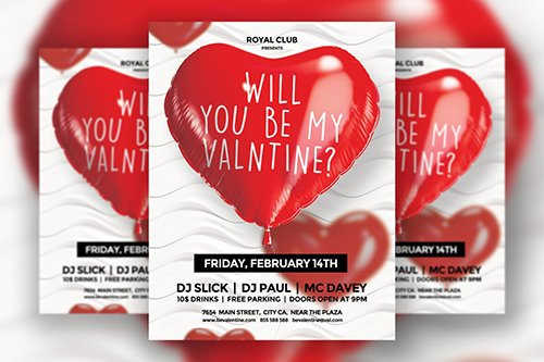Valentines Day Flyer PSD Template Vol.1