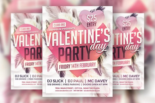 Valentines Day Flyer Template Vol.2