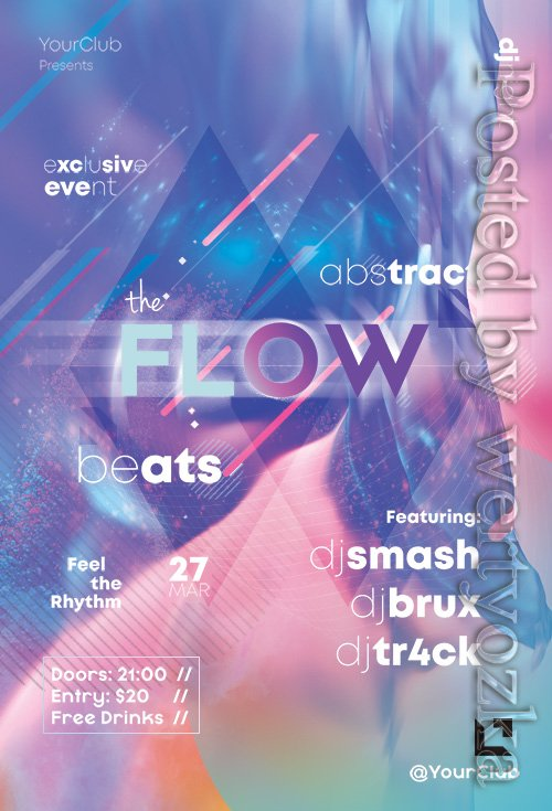 The Flow - Premium flyer psd template