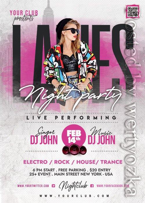 Ladies Night Party - Premium flyer psd template