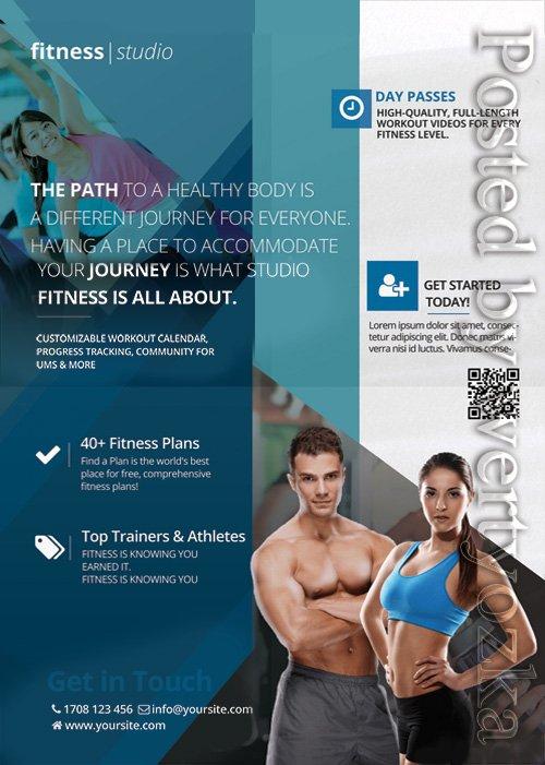 Fitness studio - Premium flyer psd template