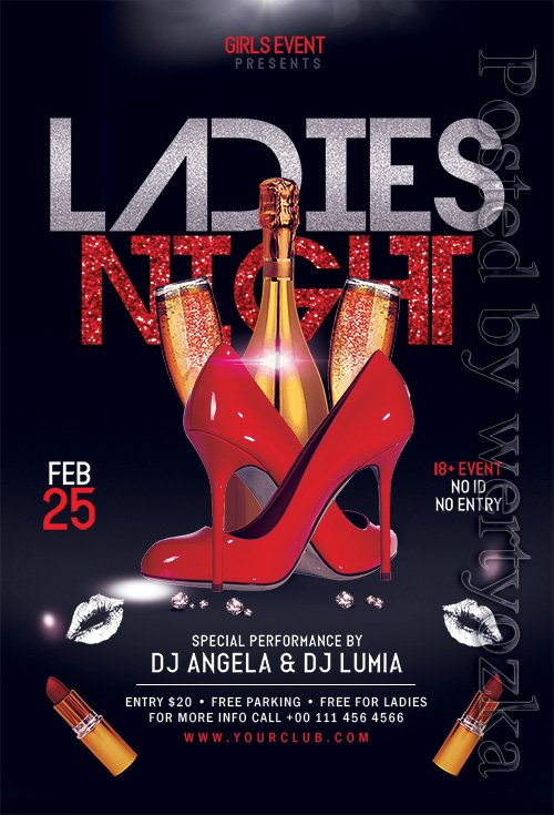 Ladies Night - Premium flyer psd template