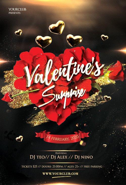 Elegant Valentine's Event - Premium flyer psd template
