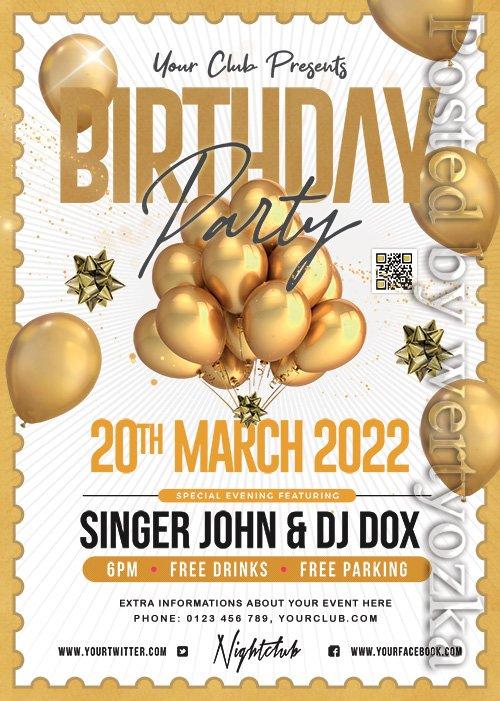 Birthday Night Party - Premium flyer psd template