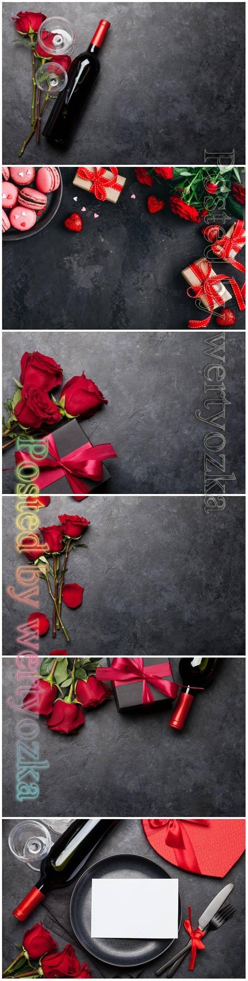 Valentines day beautiful stock photo
