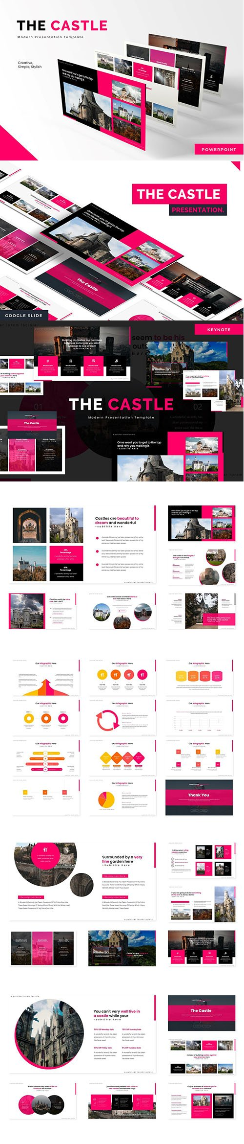 The Castle - Powerpoint, Keynote Template and Google Slide Template