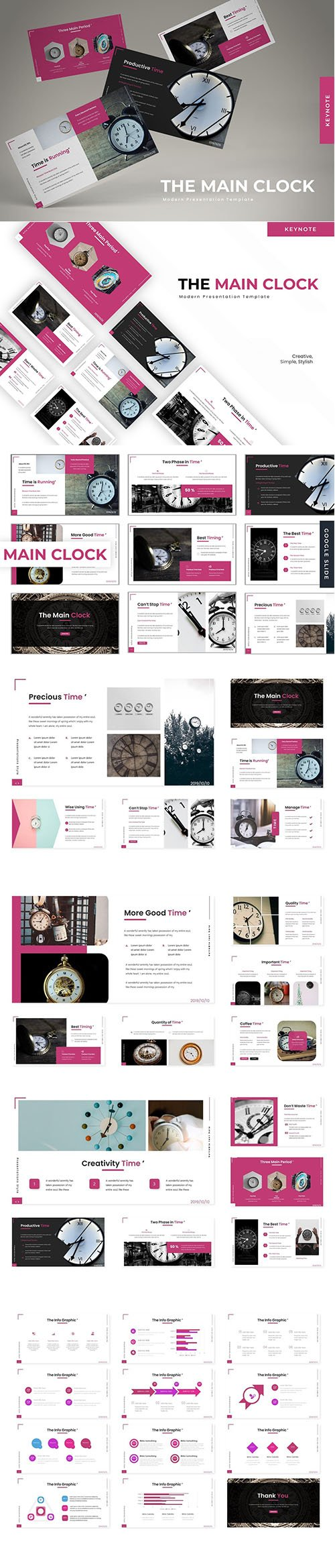 The Main Clock - Powerpoint, Keynote Template and Google Slide Template