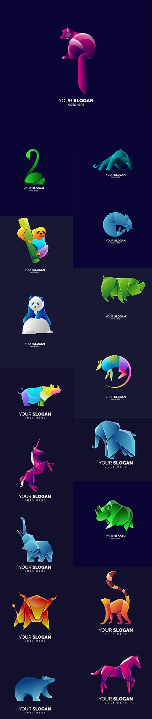 Modern Simple Animal Logo Pack