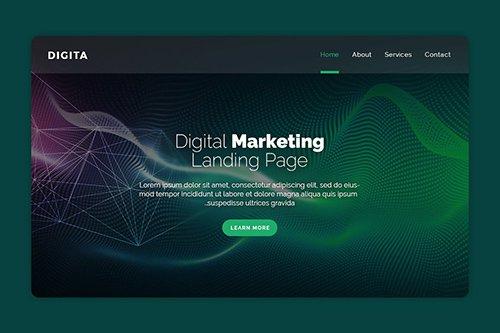 Digital - Premium Landing Page PSD Banner