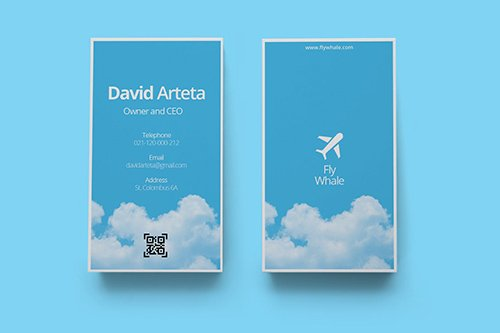 Vertical Business Card 04