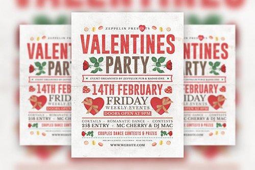 Valentine's Day Flyer Template Vol.3