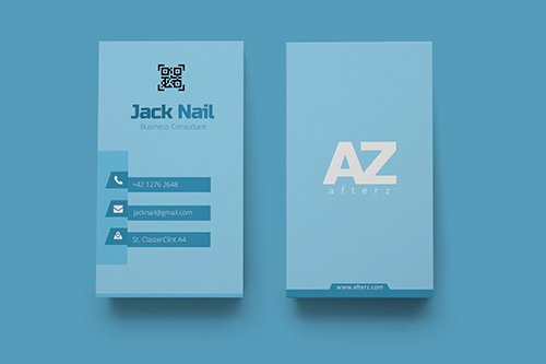 Vertical Business Card 05