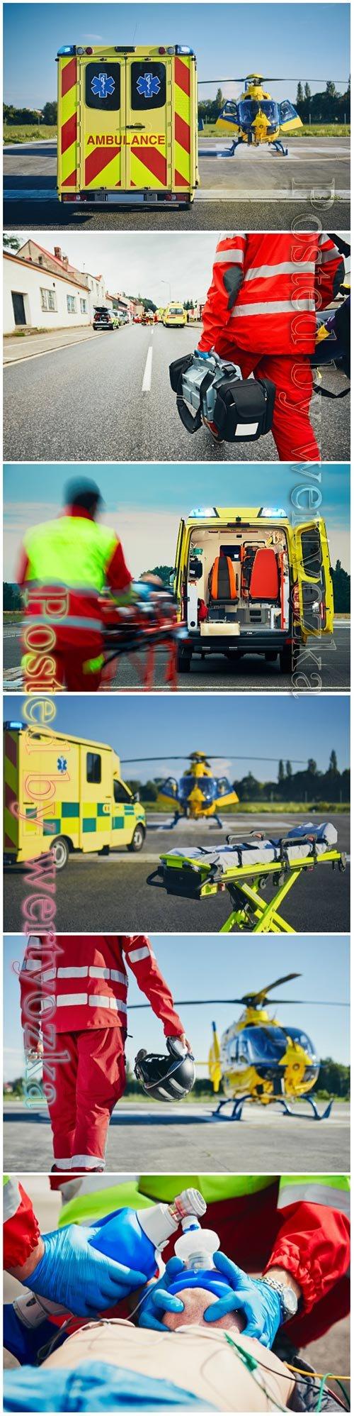 Emergency medical service beautiful stock photo