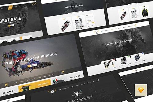 Motor Vehikal - Motorcycle Online Store Sketch