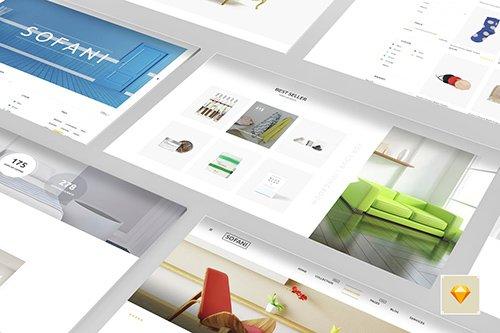 Sofani - Furniture Store Sketch Template