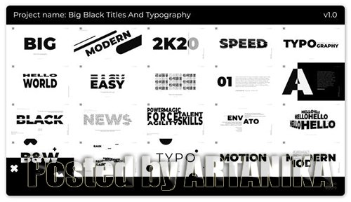 Big Black Titles And Typography 25272115