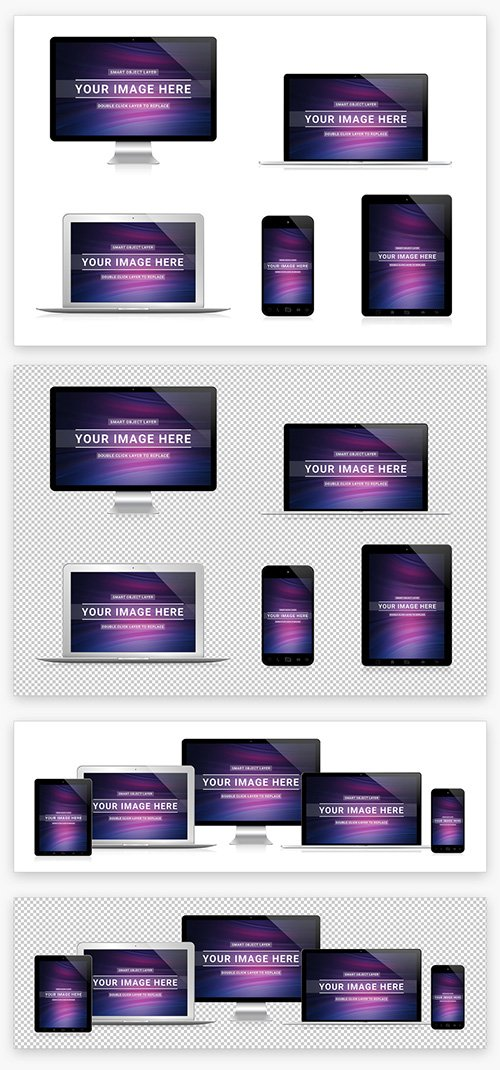5 Devices Mockup Isolated on White 211827725 PSDT