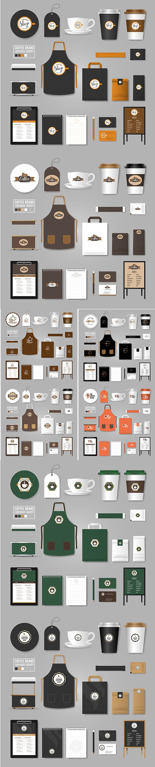 Corporate Identity Vector Template Logo Concept Coffee Shop Cafe Restaurant