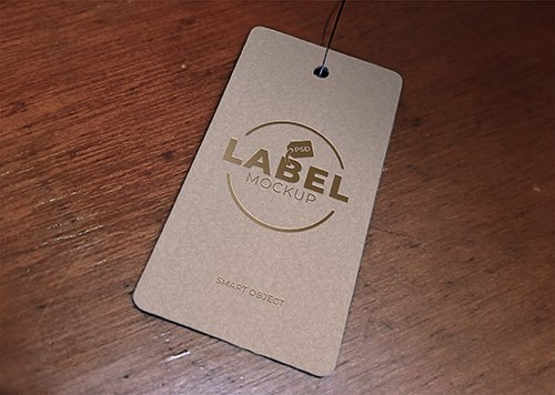 Price Tag Label Mockup