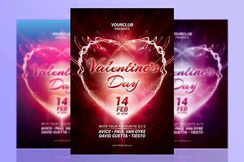 A5 Valentine's Day Party Flyer