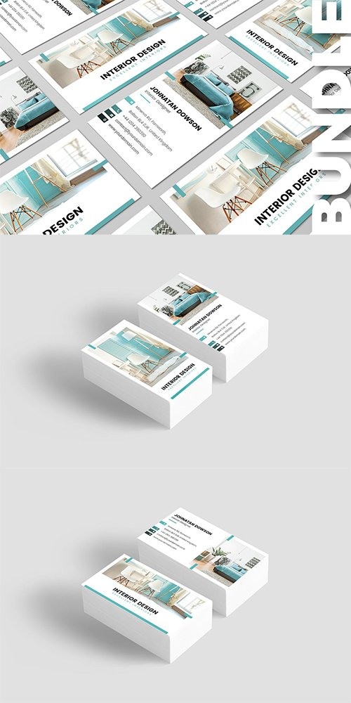 Business Card – Interior Design Bundle 2 in 1