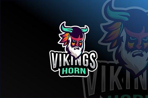 Viking Horn Esport Logo Template