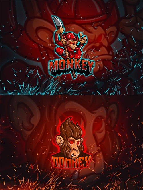 Monkey - Esports Mascot Logo YR