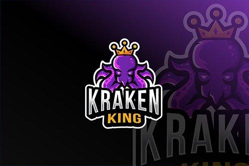 Kraken King Esport Logo Template