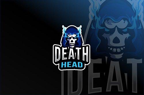 Death Head Esport Logo Template